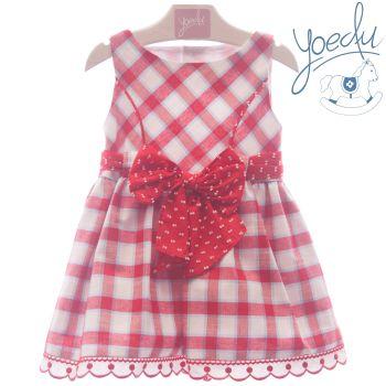 Girls Yoedu Red and White Dress 512