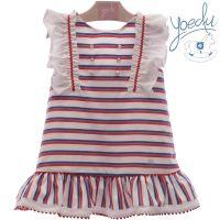 Girls Yoedu Red, White and Blue Dress 534