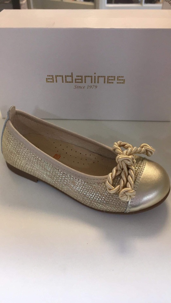 Girls Andanines Gold Shoes