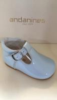 Boys Andanines Blue Patent Shoes 172817
