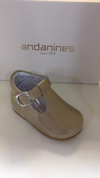 Boys Andanines Camel Patent Shoes 172817