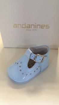 Boys Andanines Soft Sole Shoes 182893 - Blue