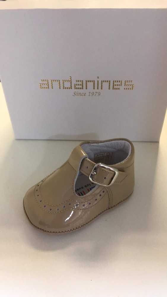 Boys Andanines Soft Sole Shoes - Camel