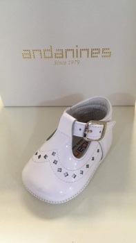 Boys Andanines Soft Sole Shoes 182893 - White
