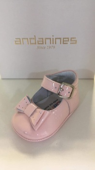 Girls Andanines Soft Sole Shoes 182887 - Pink