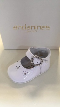Girls Andanines Soft Sole Shoes 191800 - White