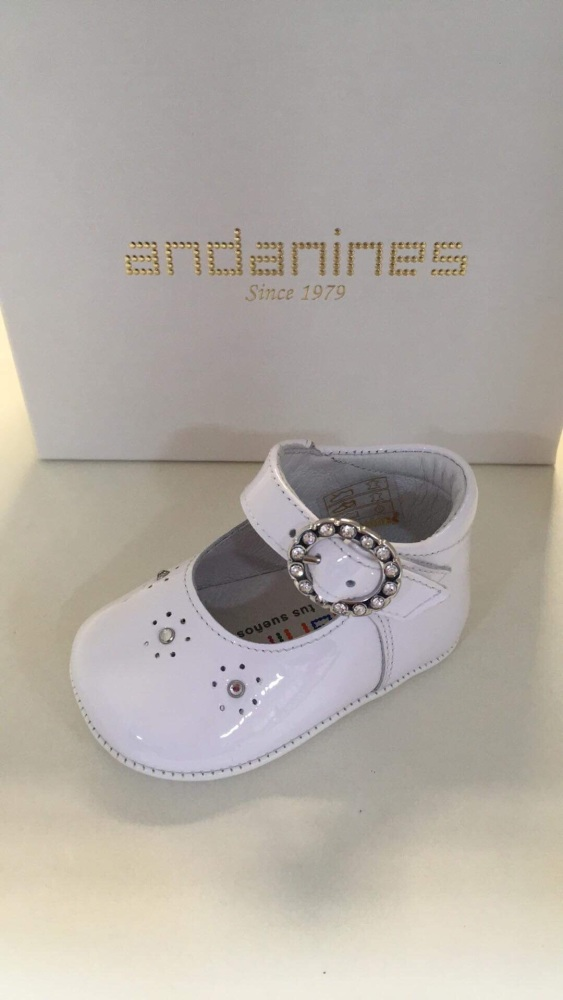 Girls Andanines Soft Sole Shoes - White