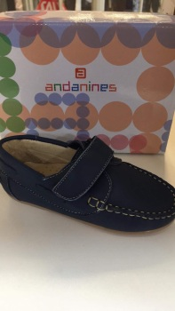 Boys Andanines Blue Leather Shoes