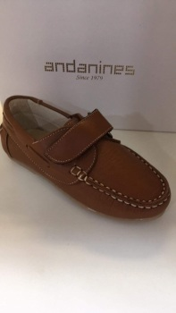 Boys Andanines Camel Leather Shoes