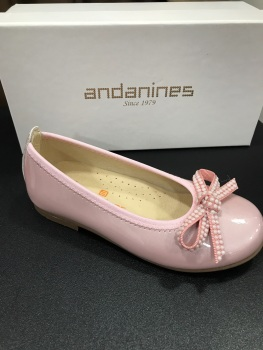 Girls Andanines Pearl Nude Shoes