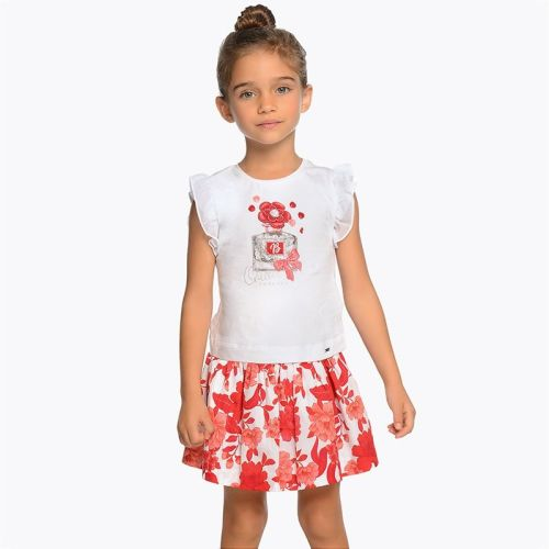 76d2daf78d9 Girls Mayoral Mini Top and Skirt Set 3956