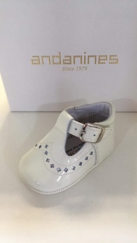 Boys Andanines Soft Sole Shoes 182893 - Cream