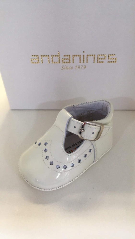 Boys Andanines Soft Sole Shoes - Cream