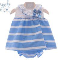 Girls Yoedu Blue and White Dress and Pants 57