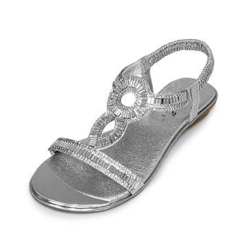 Girls Lunar Sandals Silver