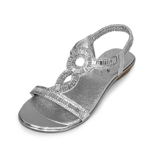 Girls Lunar Sandals Silver