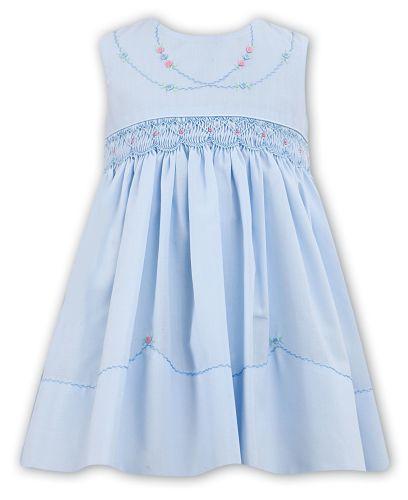Girls Sarah Louise Dress 011487 - Blue