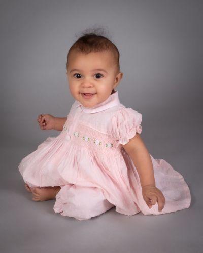 Girls Caramelo Kids Smocked Pyjamas 138002 Pink
