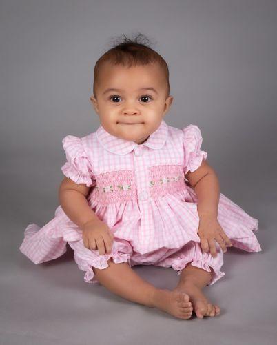 Girls Caramelo Kids Smocked Pyjamas 138007 Pink