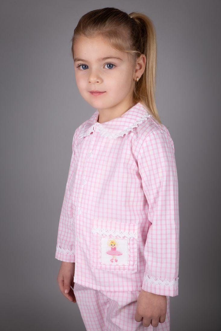 Girls Caramelo Kids Smocked Pyjamas 138106