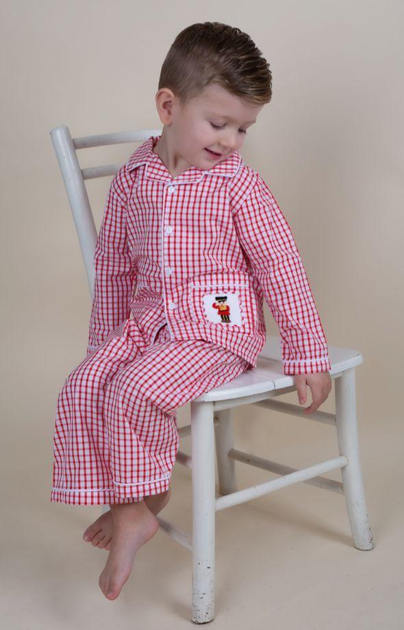 Boys Caramelo Kids Smocked Pyjamas 138213 - Red