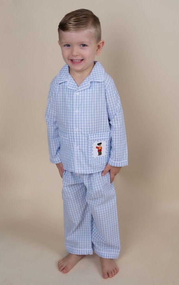 Boys Caramelo Kids Smocked Pyjamas 138213 - Blue