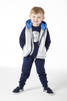 Boys Mitch and Son Jones Gilet MS1220 - Silver - 18m Only