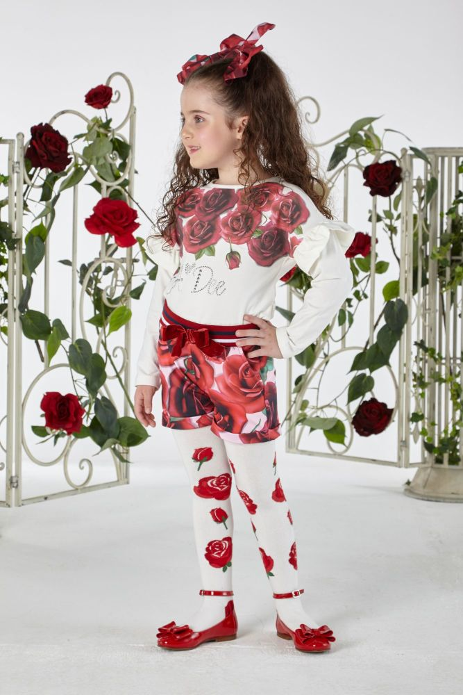 PRE ORDER AW19/20 Girls A*Dee Royal Garden Collection Trinny Top W194407
