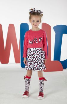 Girls A*Dee Wild Collection Sally Skirt W193608 Available in 6 years and 10 years