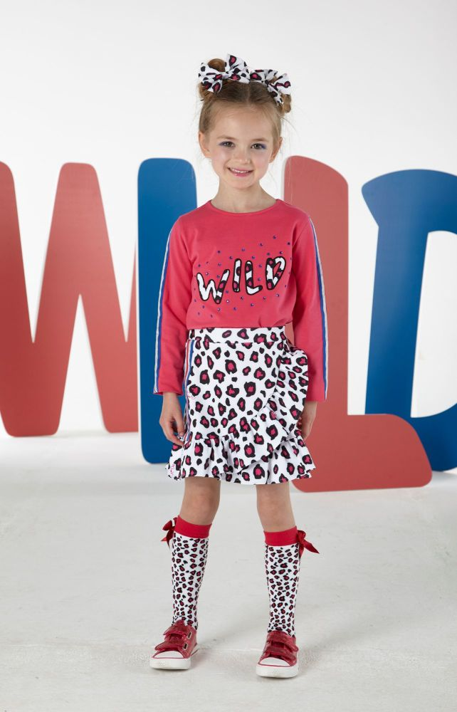 PRE ORDER AW19/20 Girls A*Dee Wild Collection Sally Skirt W193608