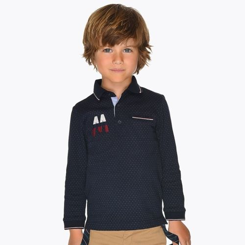 Boys Mayoral Long Sleeve Polo 4109 - Navy