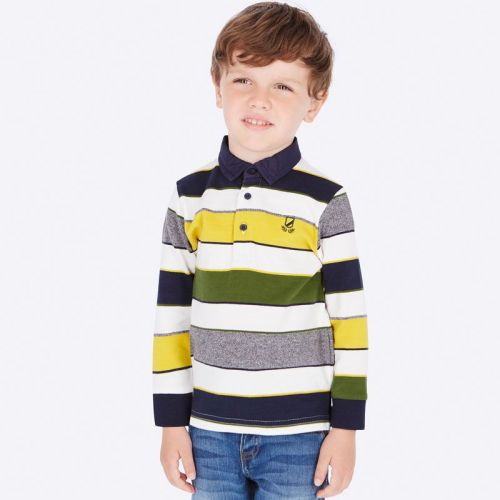 Boys Mayoral Long Sleeve Polo 4114