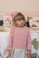 Girls Dolce Petit Salmon and Grey Shorts Set 2216 with Matching Sweater