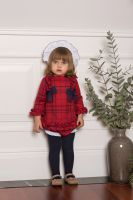 Girls Dolce Petit Red and Navy Dress and Pants 2120