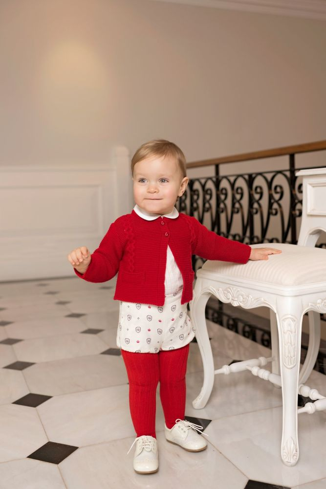 PRE ORDER AW19/20 Boys Dolce Petit Red and Cream Set 2154 with Matching Car