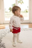 Boys Dolce Petit Red and Cream Set 2156