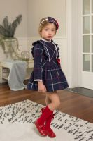 Girls Dolce Petit Navy and Red Dress 2211