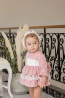 Girls Dolce Petit Pale Pink Dress and Pants 2135