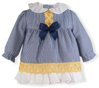 Girls Miranda Navy Dress 70 Available in 1m 3m and 6m
