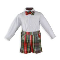 Boys Miranda Red Tartan Set 137 Available in 3m 6m and 12m