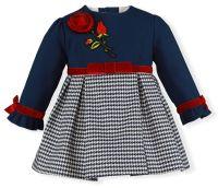 Girls Miranda Navy, White and Red Dress 142