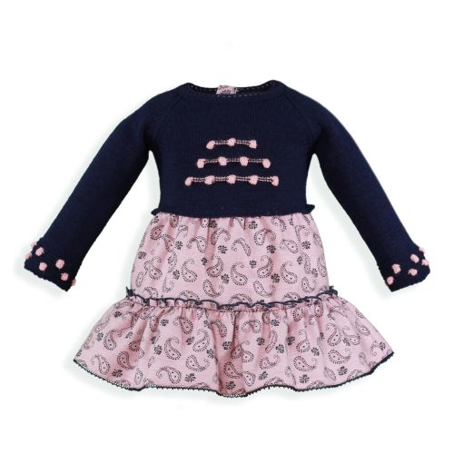 PRE ORDER AW19/20 Girls Miranda Navy and Pink Dress 155