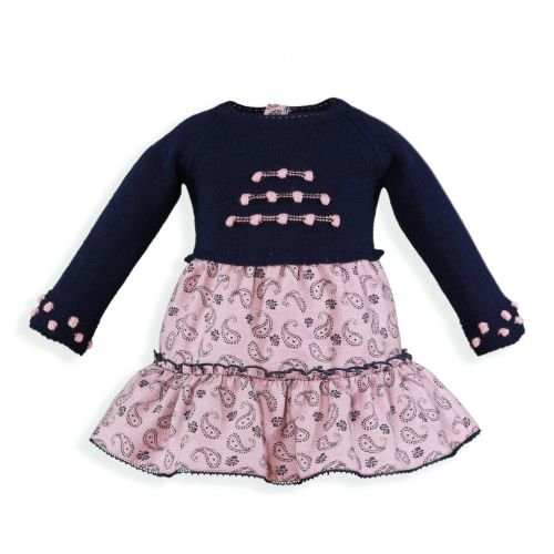 PRE ORDER AW19/20 Girls Miranda Navy and Pink Dress 155