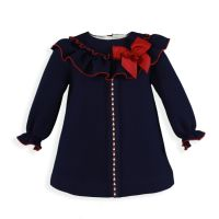 Girls Miranda Navy and Red Dress 191