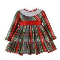 Girls Miranda Red Tartan Dress 236