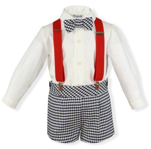 PRE ORDER AW19/20 Boys Miranda Navy and White Set 242 with Matching Braces