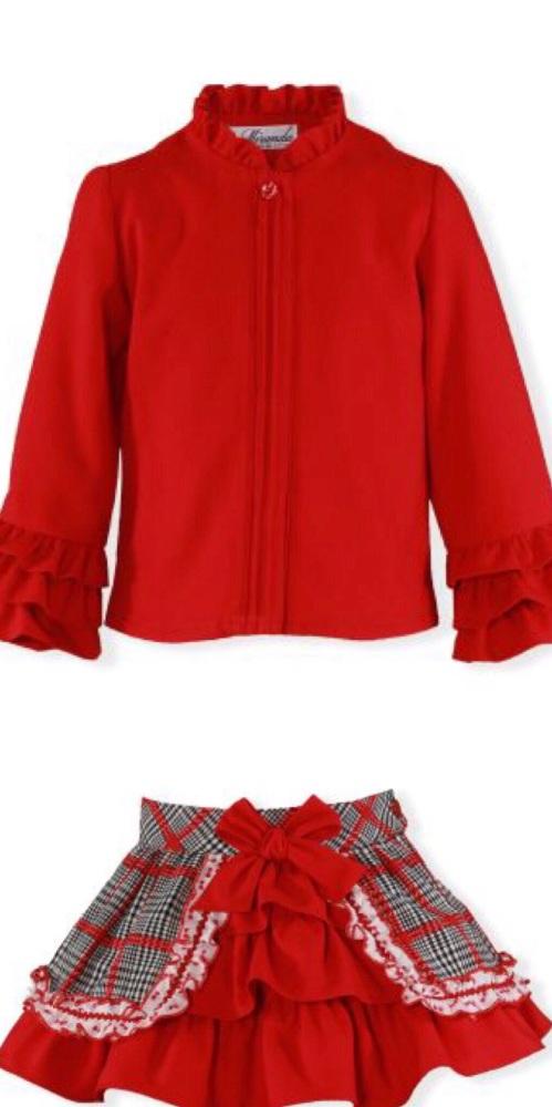 PRE ORDER AW19/20 Girls Miranda Red Skirt Set 262