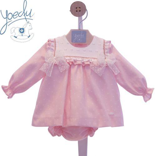 Girls Yoedu Pink Dress and Pants 2066