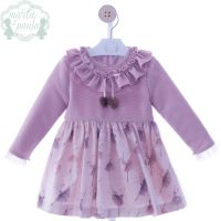 Girls Marta Y Paula Stone Pink Dress 5160