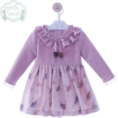 Girls Marta Y Paula Stone Pink Dress 5160